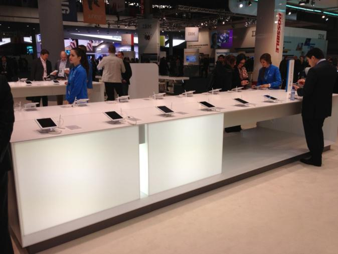 20% of the booth dedicated to Galaxy Note 8.0
