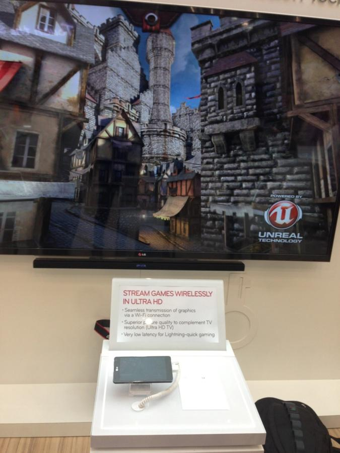 Streaming games by LG : play both on your phone and TV.