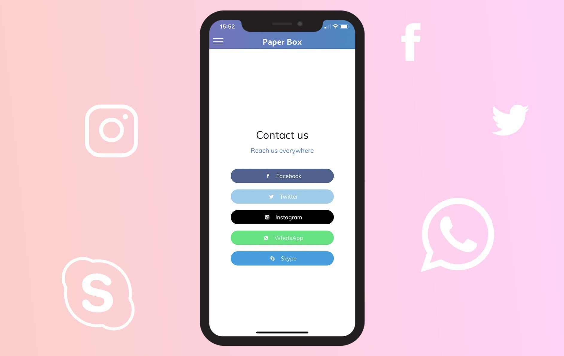 Instagram, WhatsApp & Skype get Invited in your Contact section
