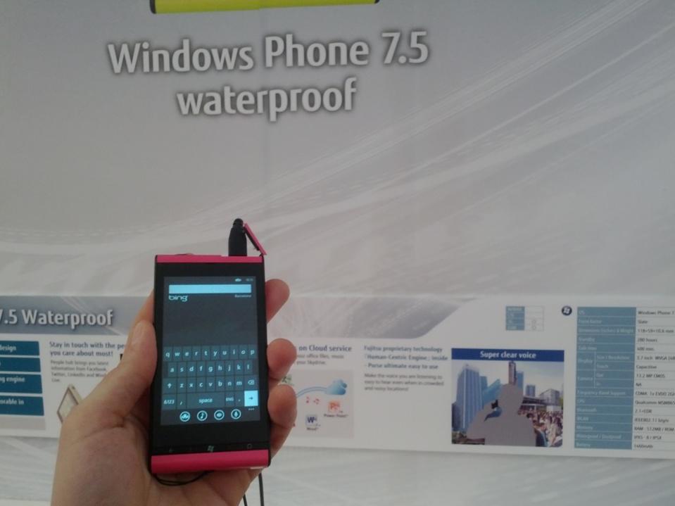 Fujitsu under WP7 (waterproof)