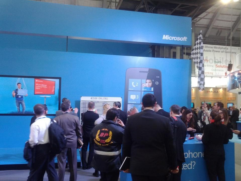 The Microsoft Windows Phone booth, Hall 1