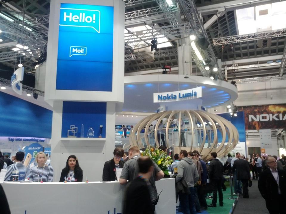 The Nokia booth, Hall 7 (AppPlanet)