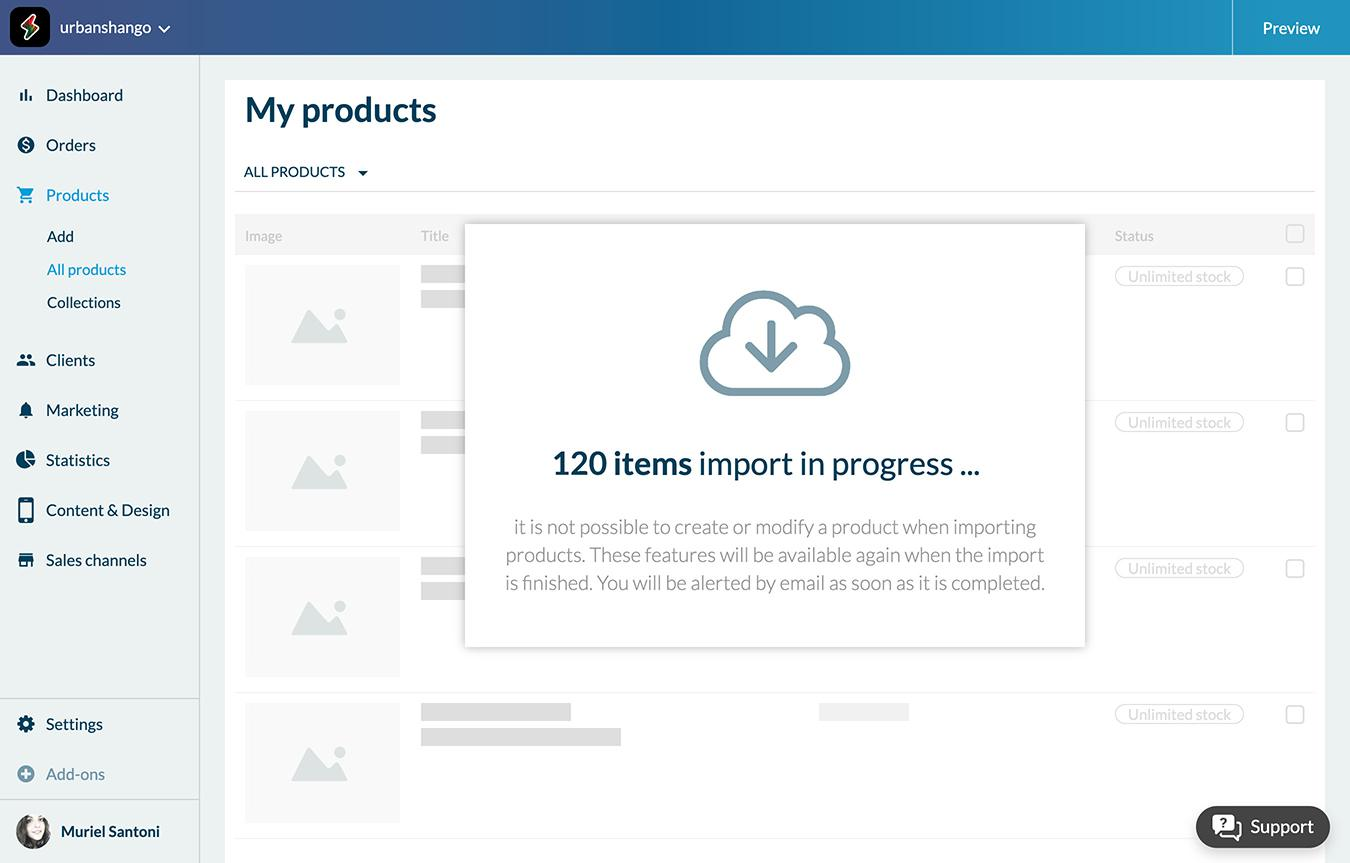 Import/ Export your product catalog