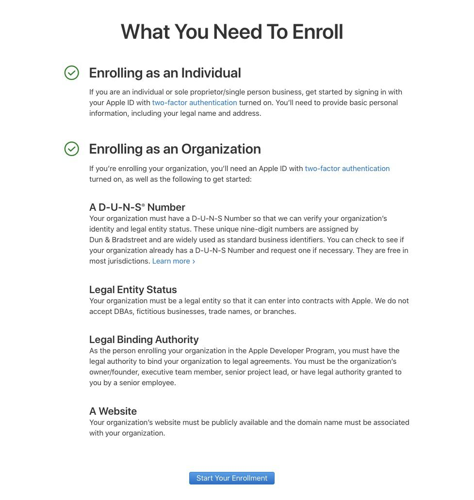 How to create an Apple developer account?