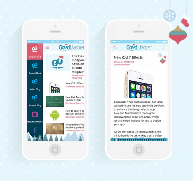 The magic of Christmas in your app!