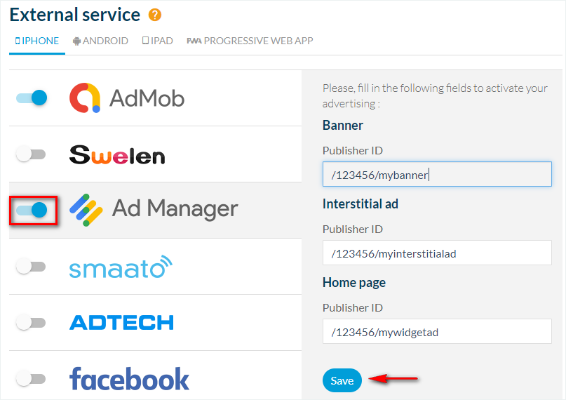 How to use your DFP account to display ads in your mobile app?