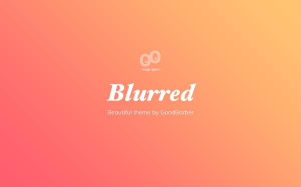 New GoodBarber 4.0 Themes : Blurred