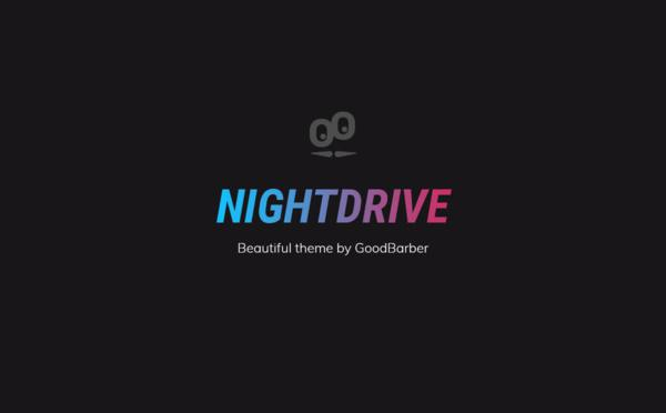New GoodBarber 4.0 Themes : Nightdrive