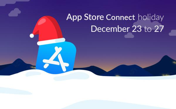 App Store Connect Holiday: Dec 23 – 27