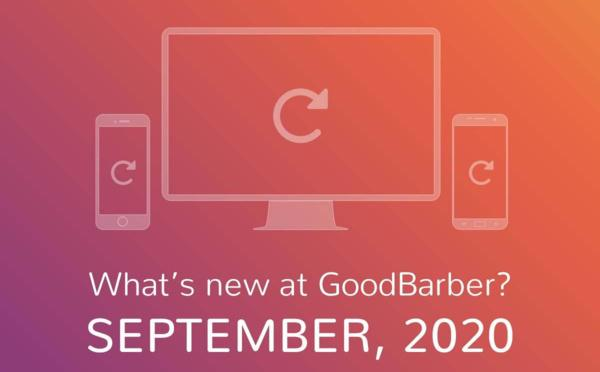 What's new at GoodBarber? September 2020