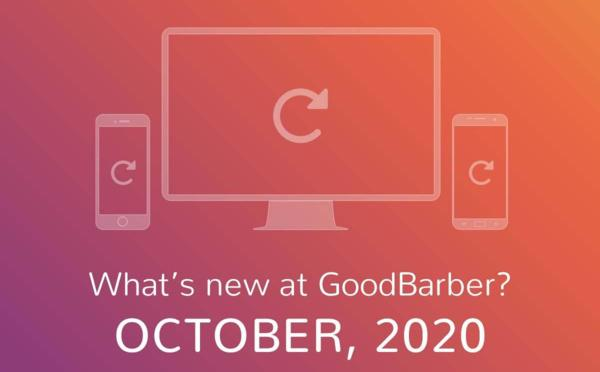 What's new at GoodBarber? October 2020