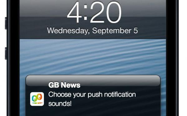 Choose your push notification sounds