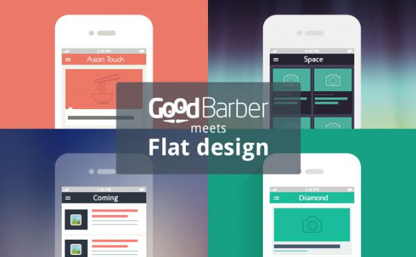 Flat design meets GoodBarber