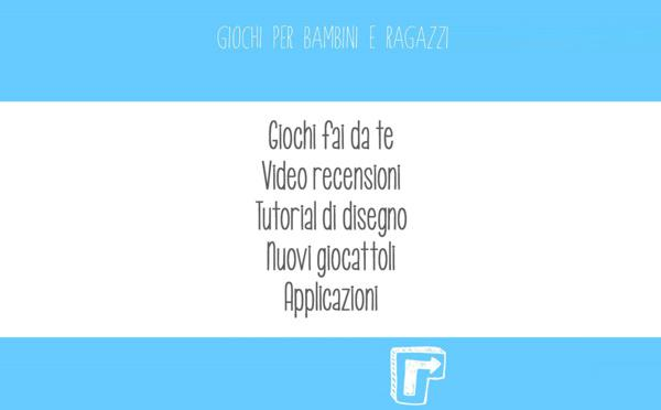 Giochi, an app with a lot of ideas to have fun and play with your children!
