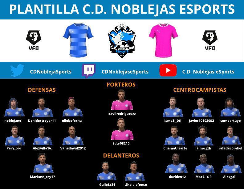 Plantilla C.D. Noblejas eSports