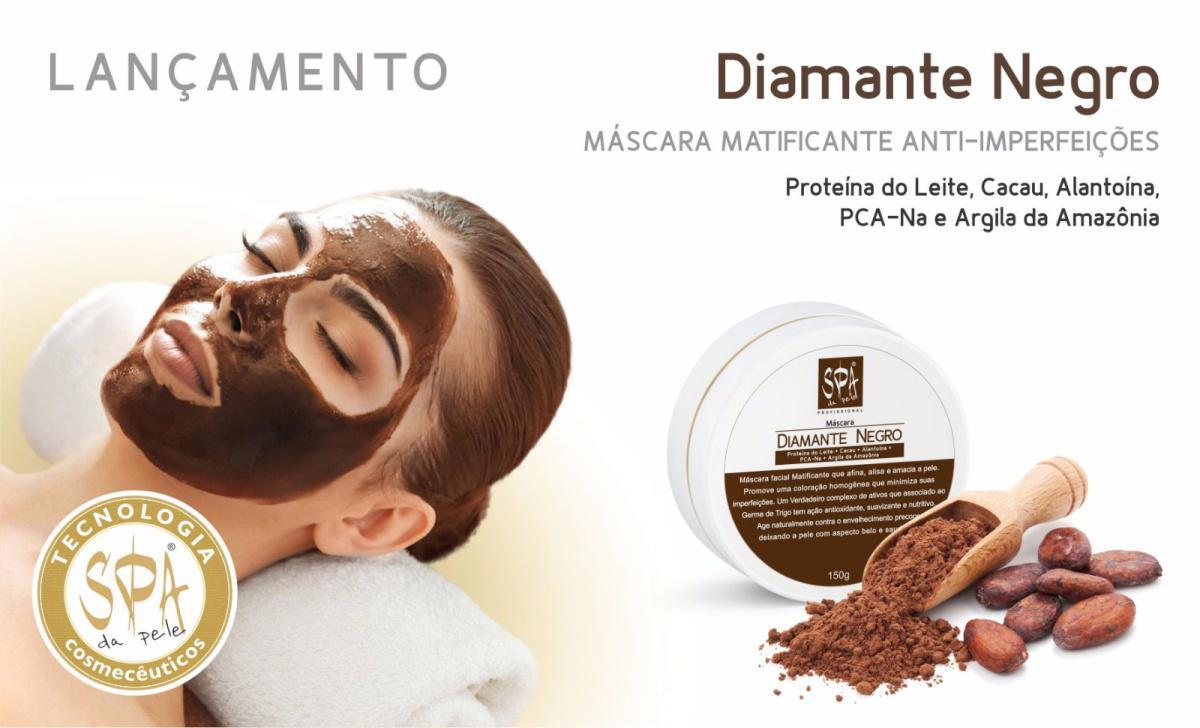 DIAMANTE NEGRO - MÁSCARA FACIAL MATIFICANTE 150g Cód. 649