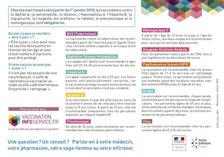 Calendrier 2019 Vaccinal.Calendrier Vaccinal 2019 Simplfie