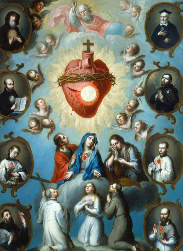A Virgem Maria nos leva ao Sagrado Coração de Jesus