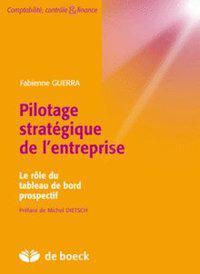 Pilotage Strategique De L Entreprise Le Role Du Tableau De Bord Prospectif