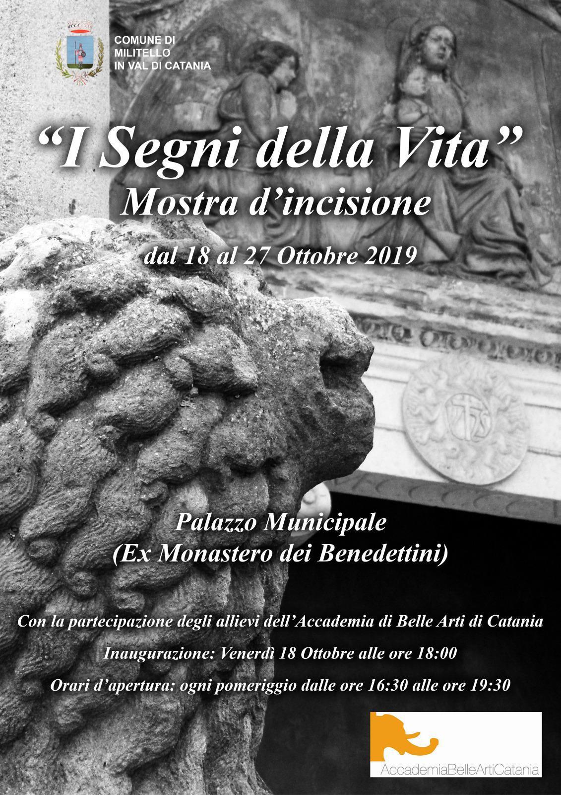 """Inaugurazione Mostra d'incisione """"I Segni della Vita"""". A cura degli allievi dell'Accademia di Belle Arti di Catania con il prof. Luca Indaco"""