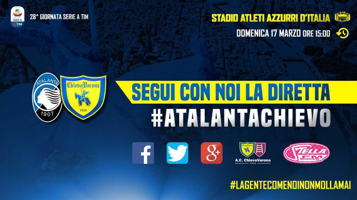 Segui con noi la diretta di #AtalantaChievo