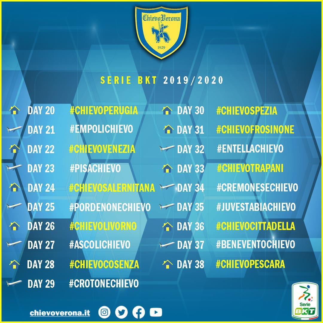 Serie BKT: la 1^ giornata ci sarà #PerugiaChievo