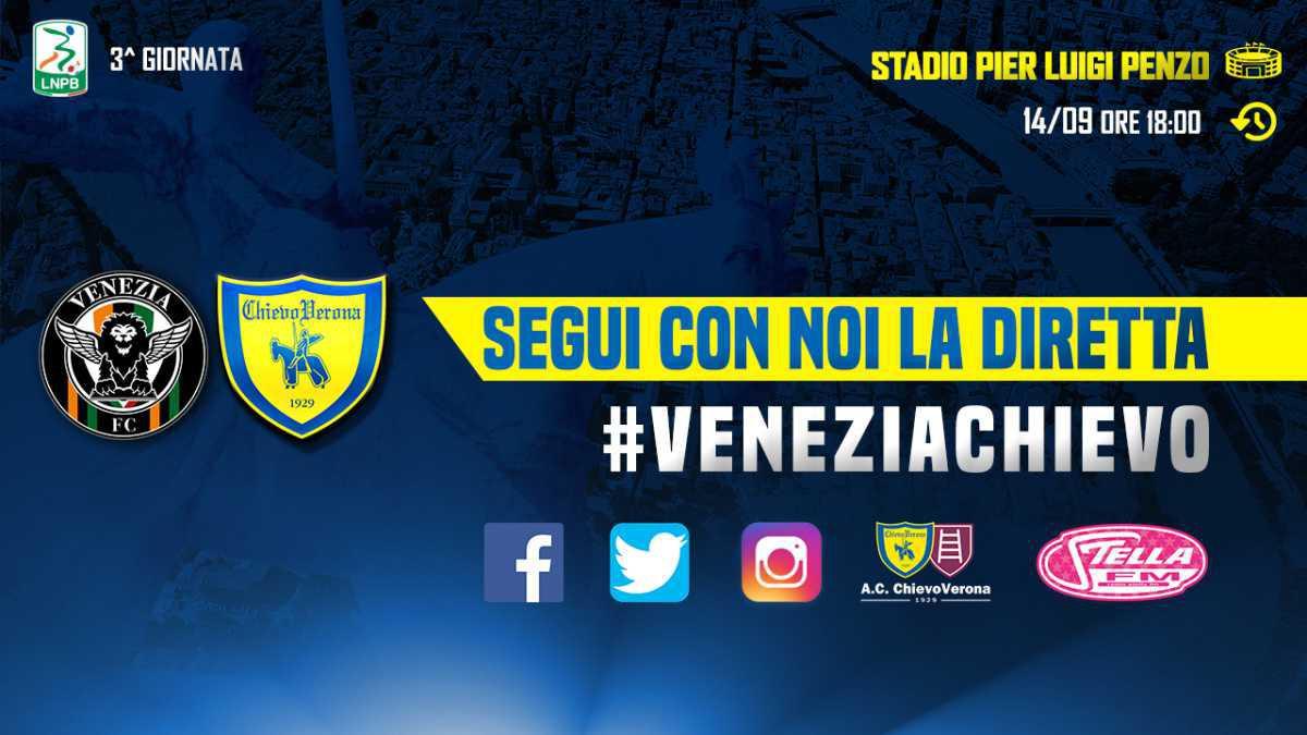 Segui con noi la diretta di #VeneziaChievo
