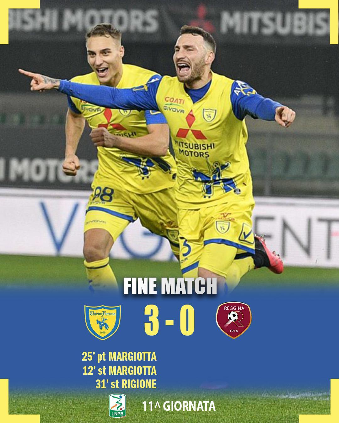 #ChievoReggina 3-0: il tabellino del match