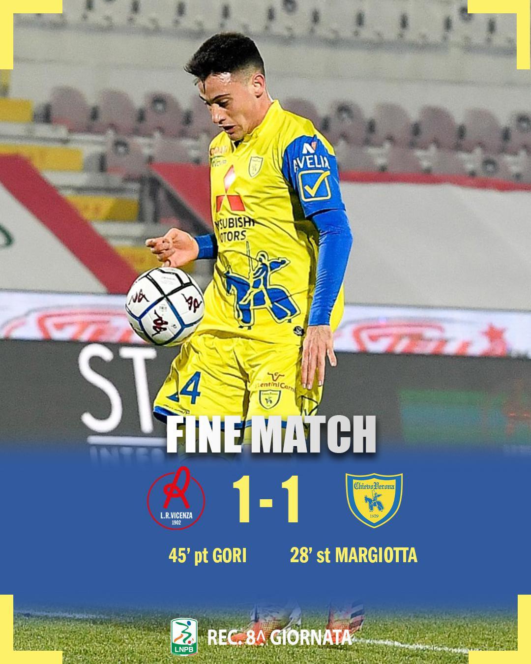 #VicenzaChievo 1-1: il tabellino del match