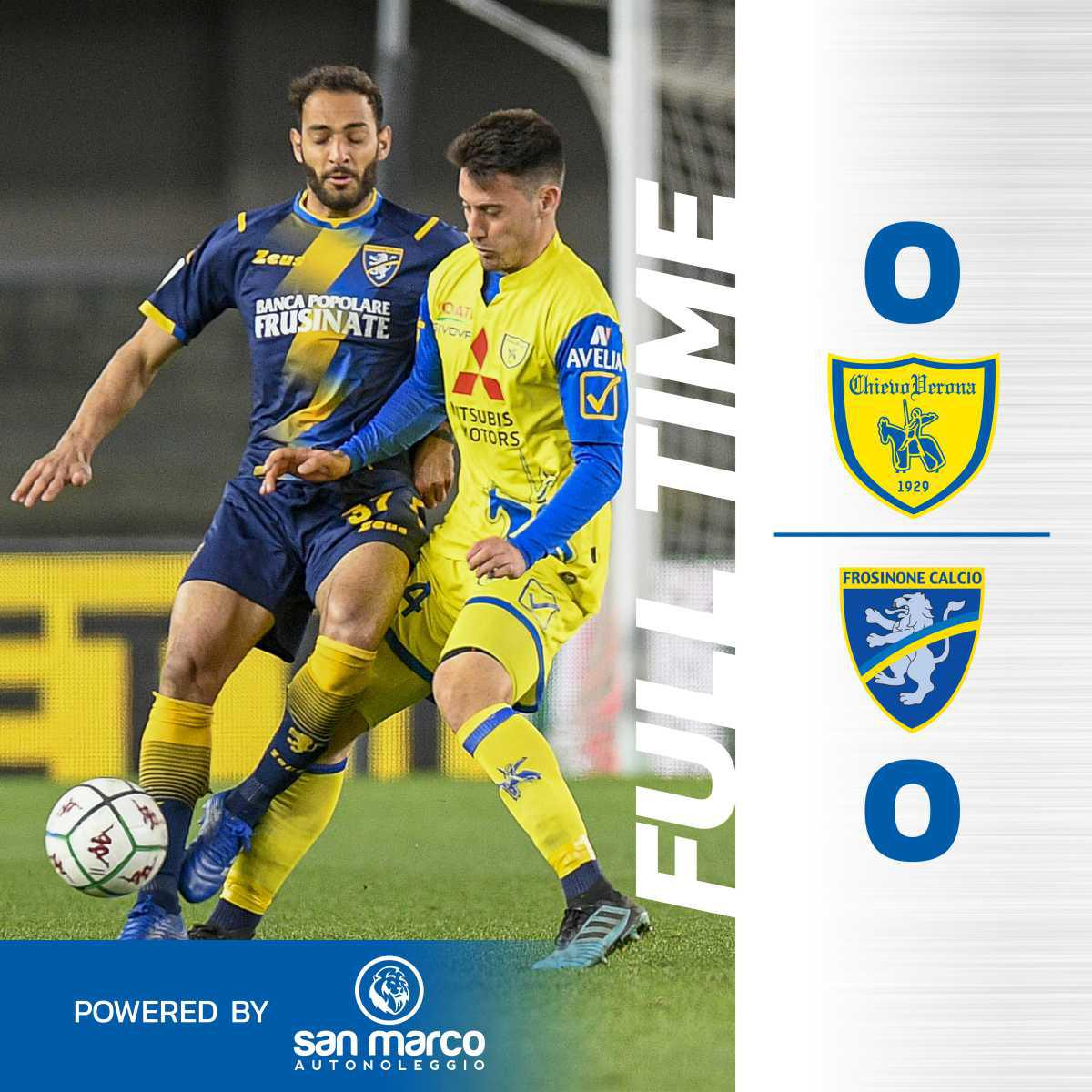 #ChievoFrosinone 0-0: il tabellino del match