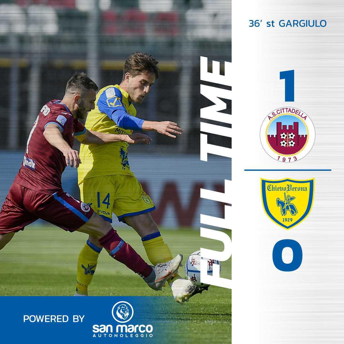 #CittadellaChievo 1-0: il tabellino del match