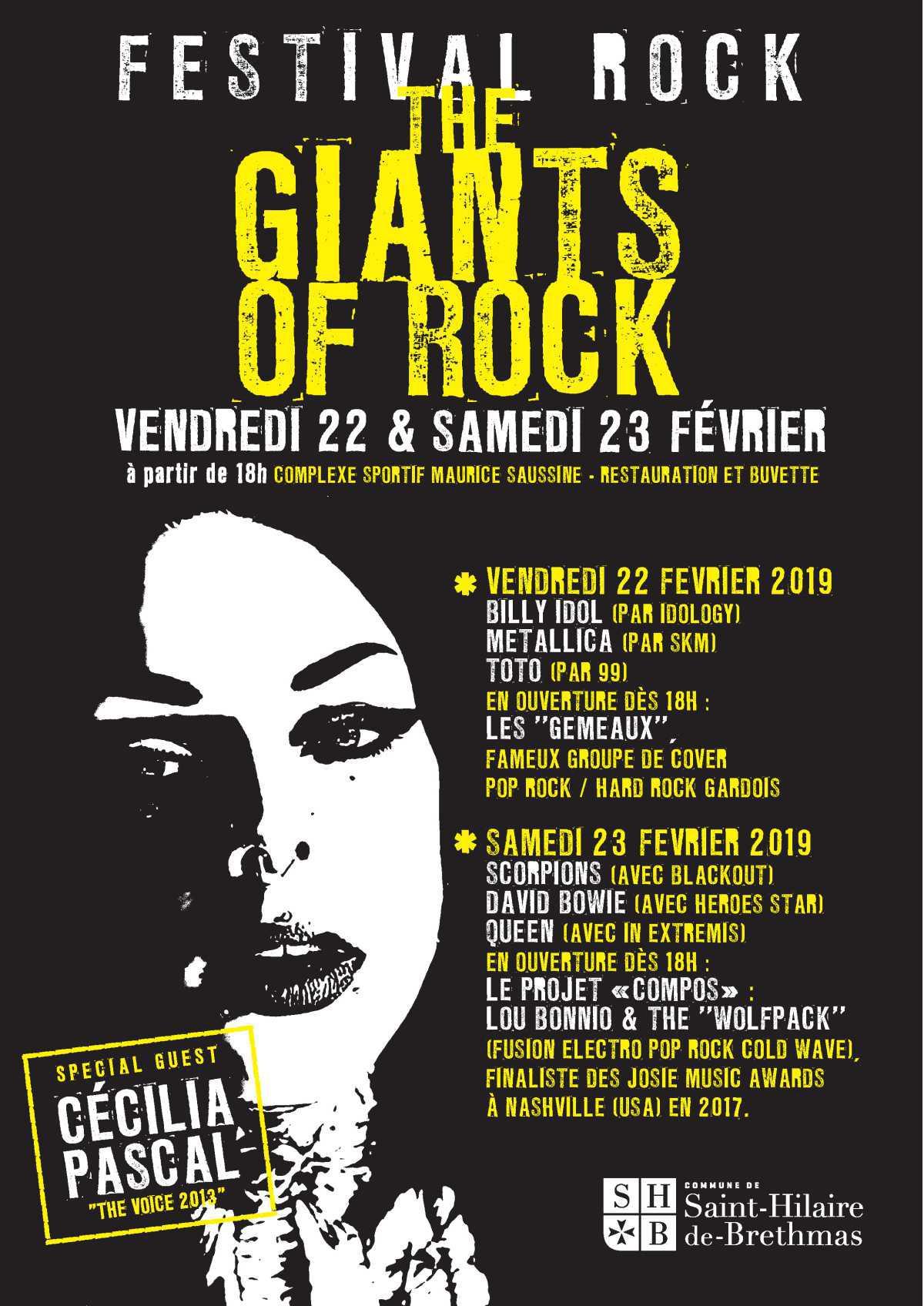 """Festival """"The Giants of Rock"""" (22 et 23 février 2019)"""
