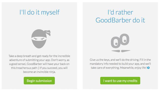 Yeni GoodBarber İlgilenir Hizmeti