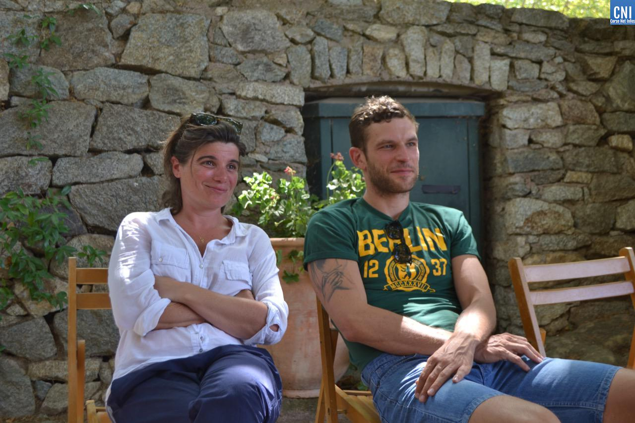 Marie Ange Luciani et Arnaud Valois à Lama