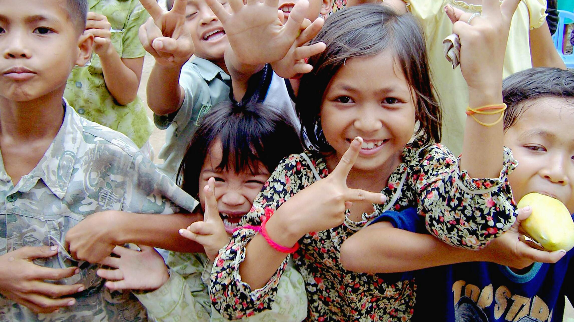 Sourires d'enfants du Cambodge