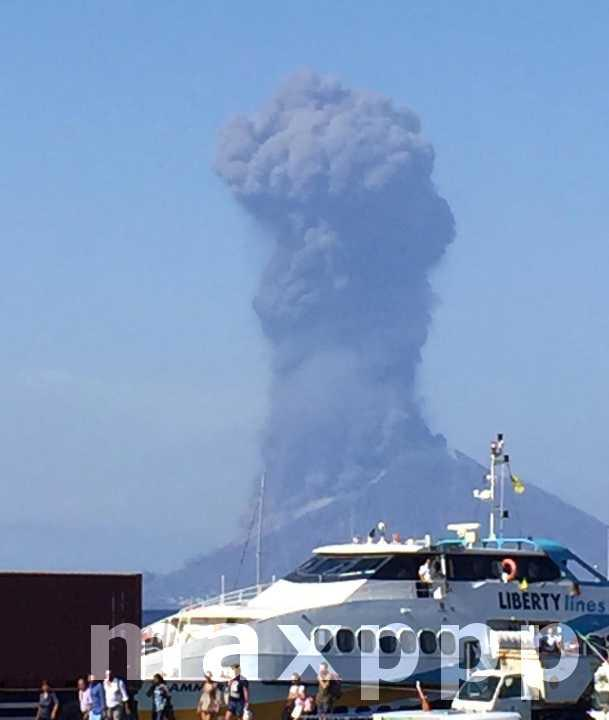 Italie : Eruption du Stromboli
