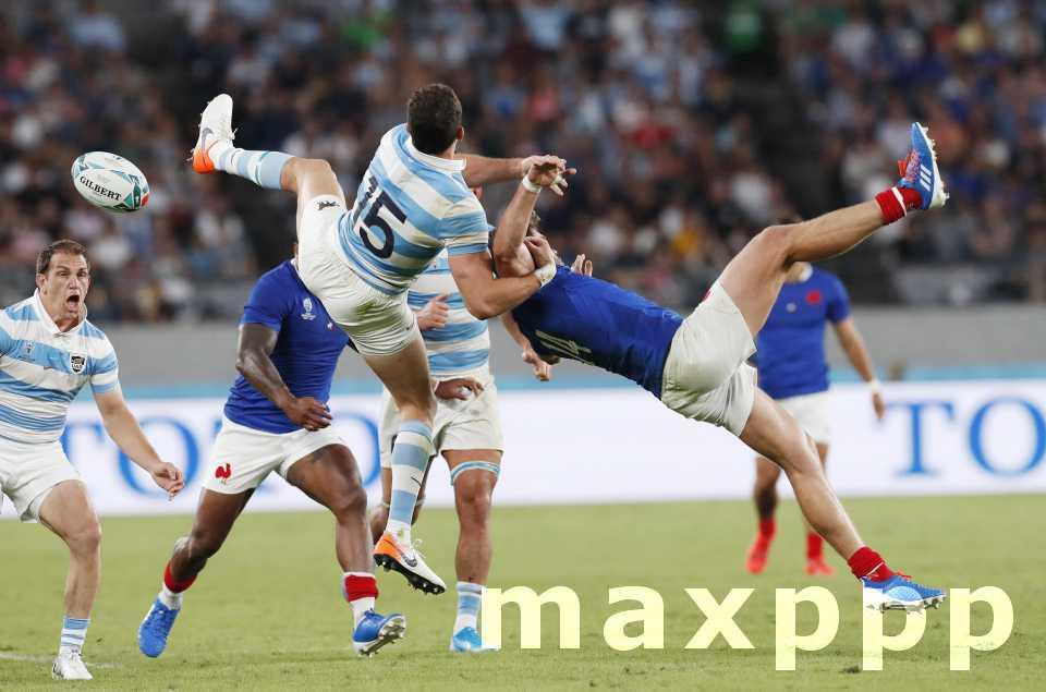Le XV de France face aux USA à Fukuoka