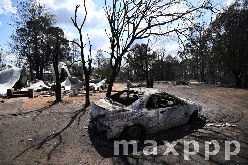 Le bush australien en feu