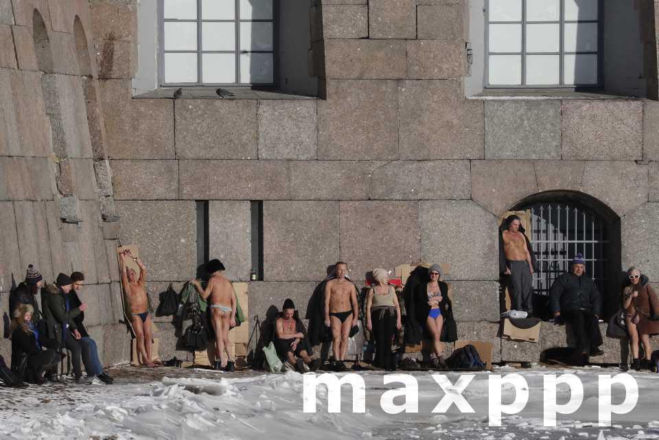 Soleil à Saint-Pétersbourg