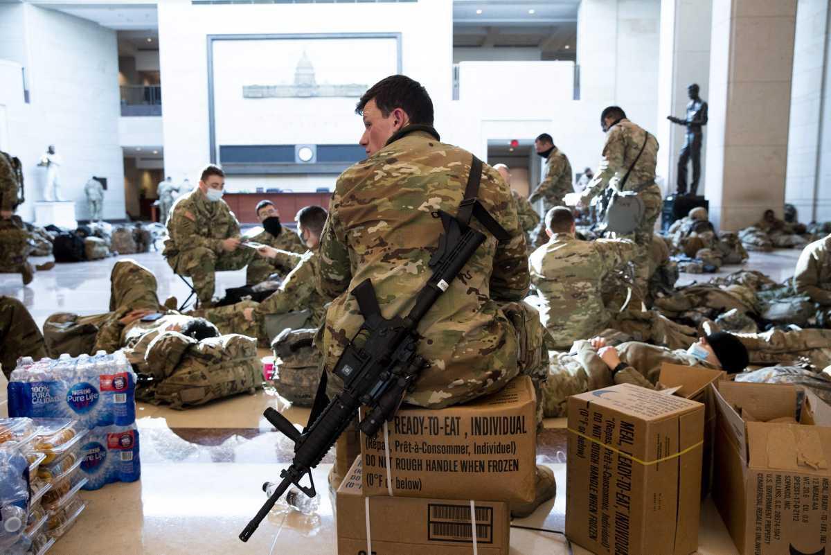 [ Focus ] - USA : Les images de la Garde Nationale américaine à l'intérieur du Capitole