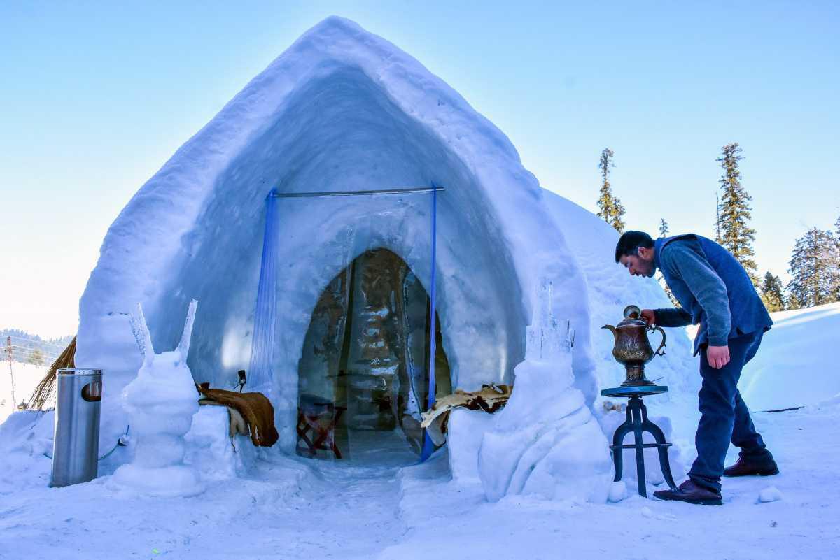 [ Focus ] - Le premier restaurant igloo d'Inde vient d'ouvrir dans la vallée du Cachemire!