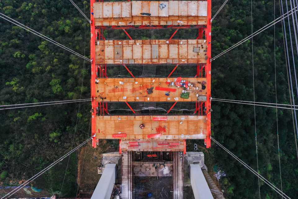 [Focus] - Impressionnant : les photos de la construction du pont Yangbaoshan en Chine !