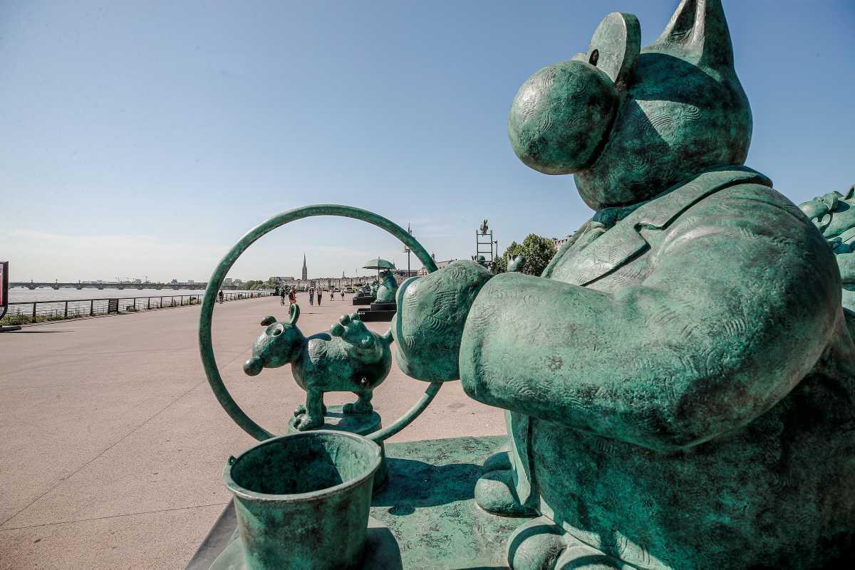 [ Focus ] - Le Chat de Geluck investit les quais à Bordeaux!