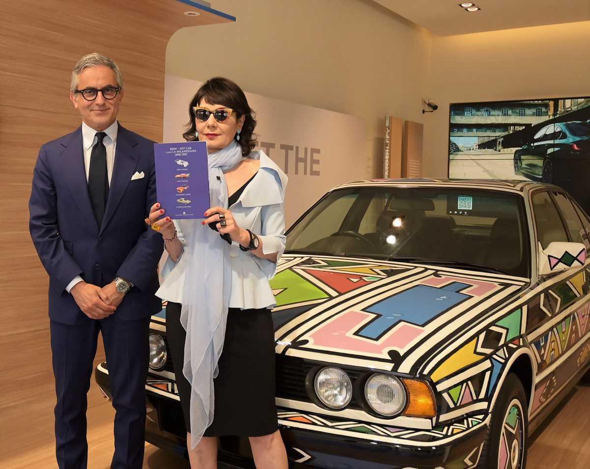[ Focus ] - Art-Car Esther Mahlangu, BMW 525i au Milanesiana de Milan !