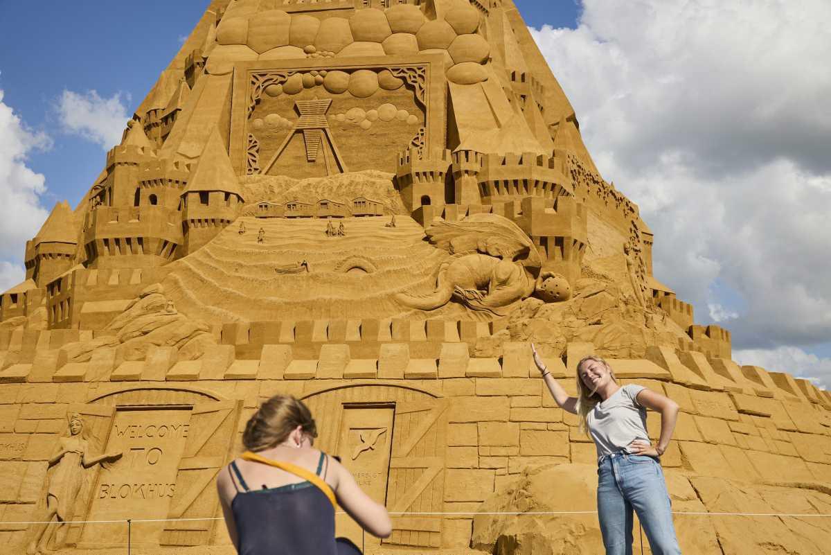 [Focus] - Insolite - Le château de sable le plus haut du monde construit au Danemark