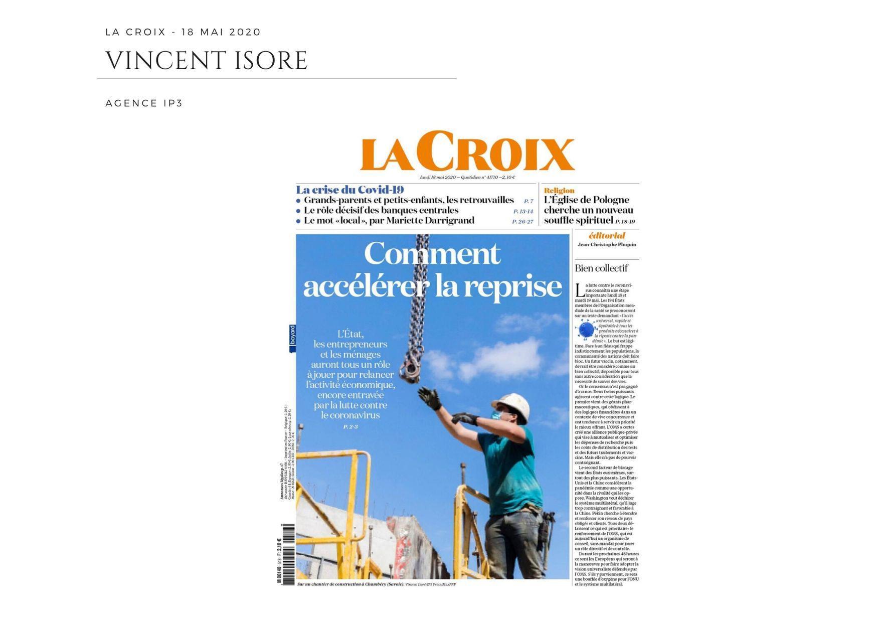 La Croix - 18 mai 2020