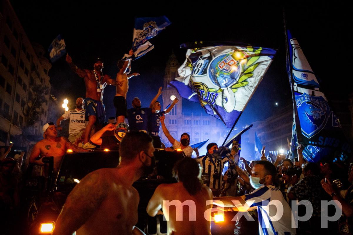 FC Porto fans celebrate First League title in Porto, Portugal