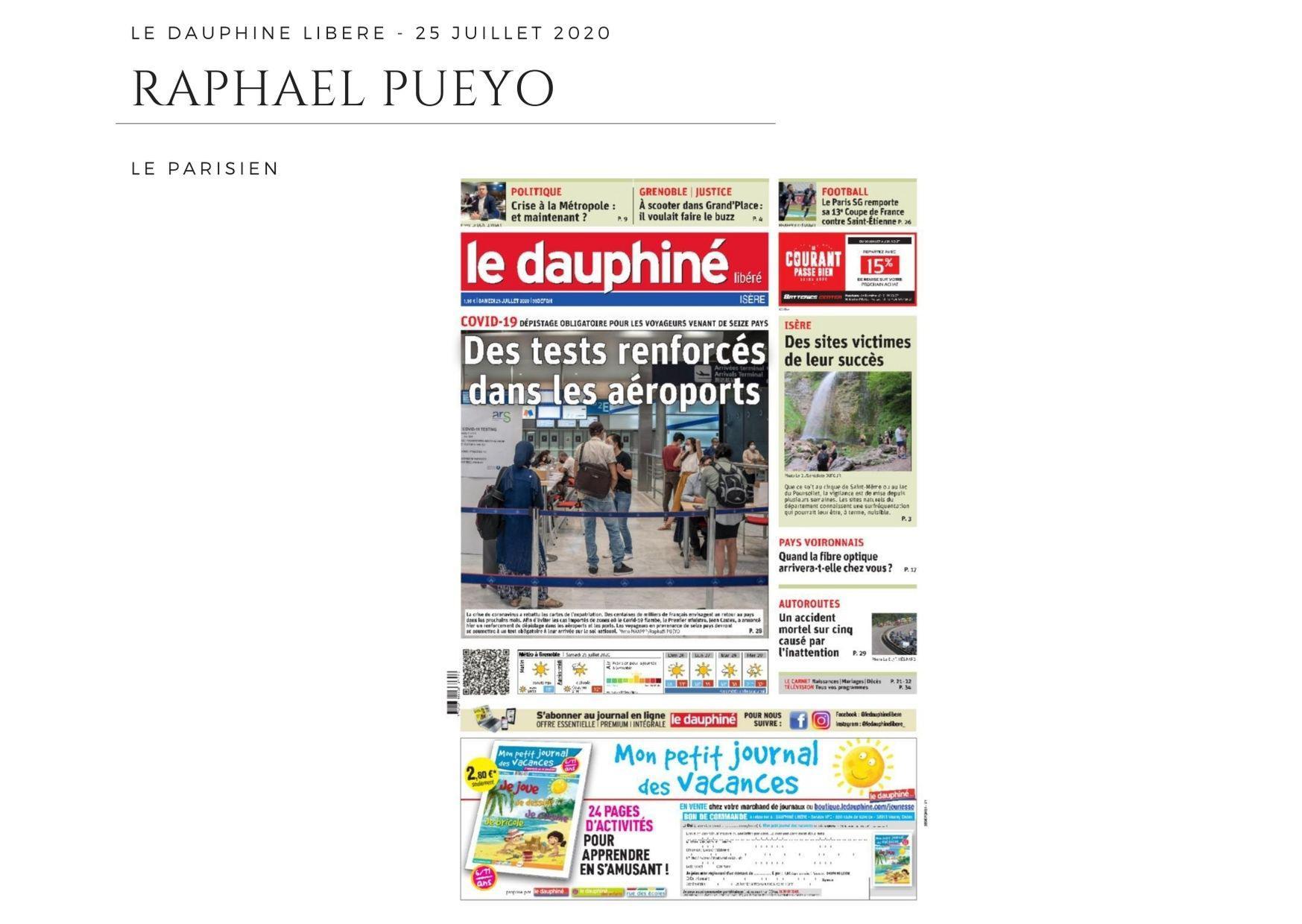 Le Dauphiné Libéré - 25 juillet 2020