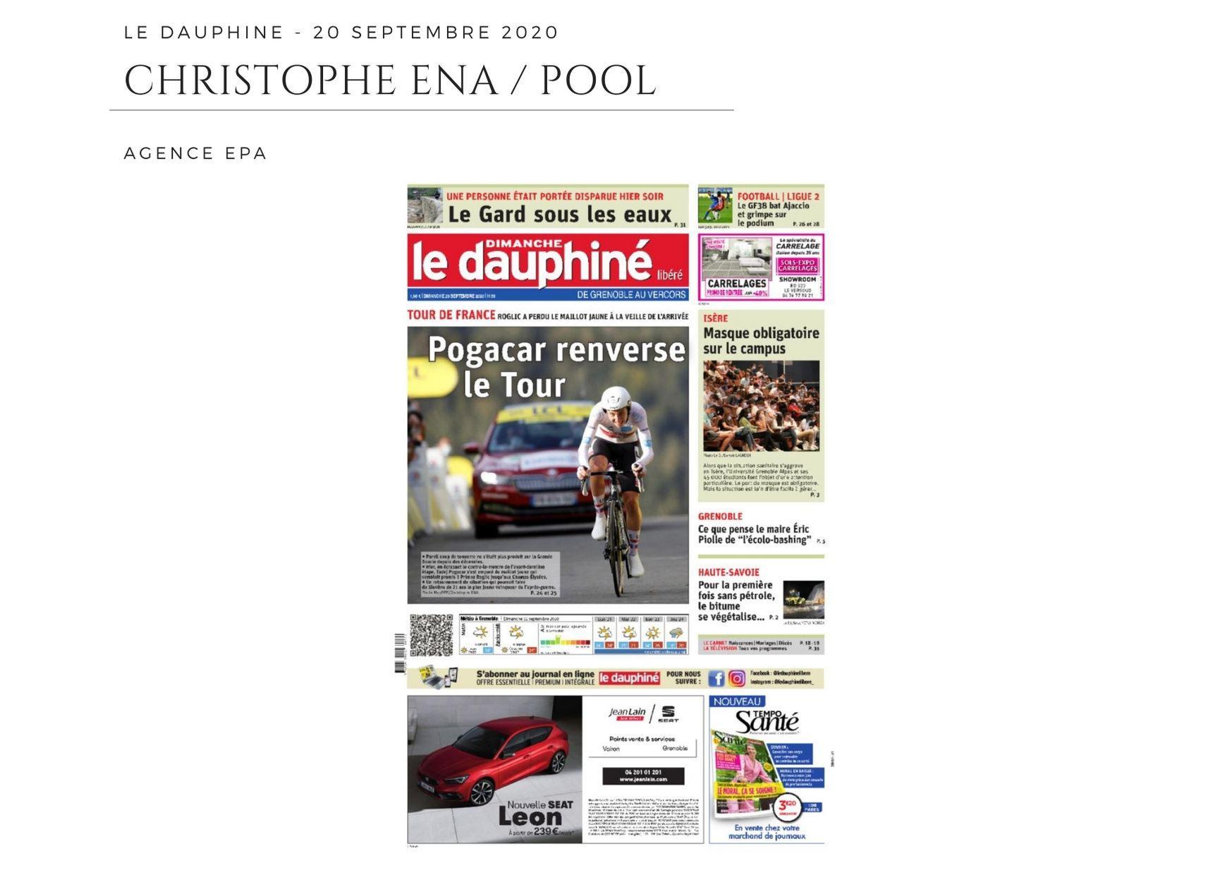 Le Dauphiné - 20 septembre 2020