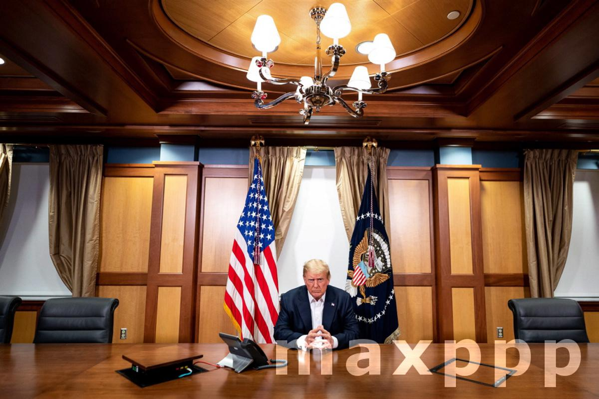 US President Trump at Walter Reed National Military Medical Center in Bethesda